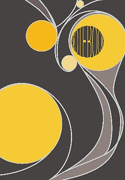 Notebook for graphic designers, yellow circles, lines