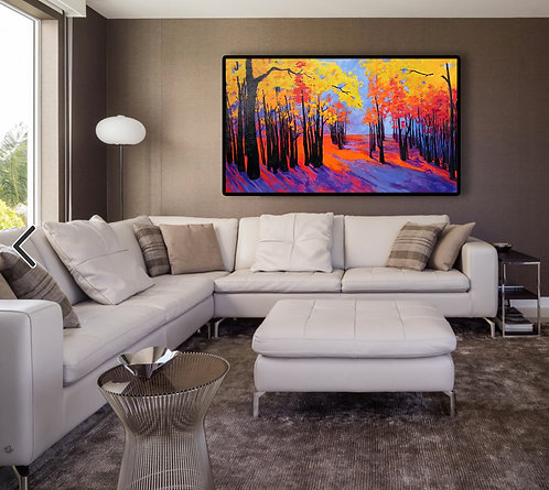 Large color painting for living room