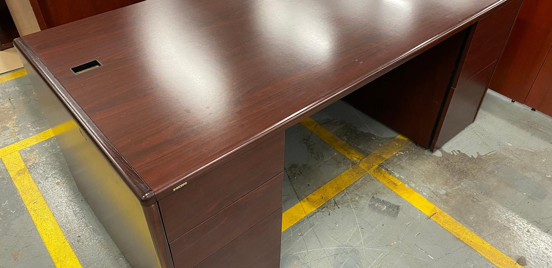 Hon Double Pedestal Cherry Desk  0301-1-