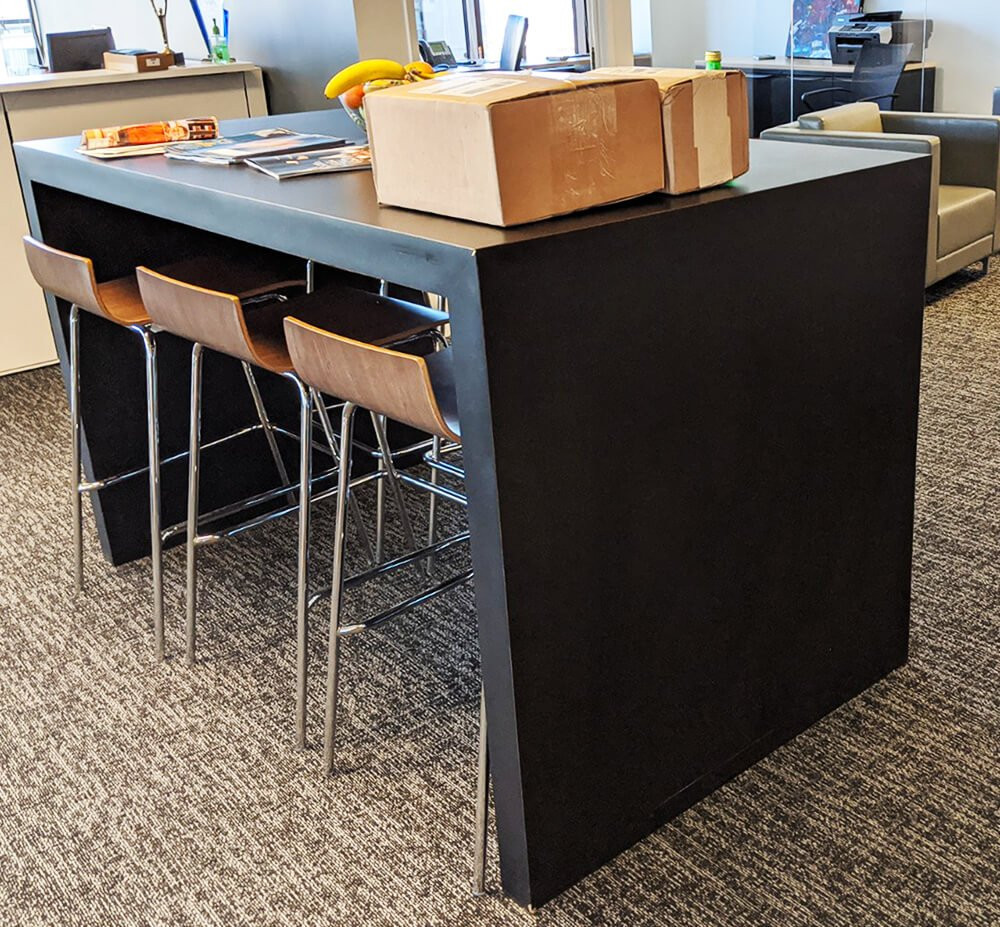 Bar Height Break Room Table and Wooden S