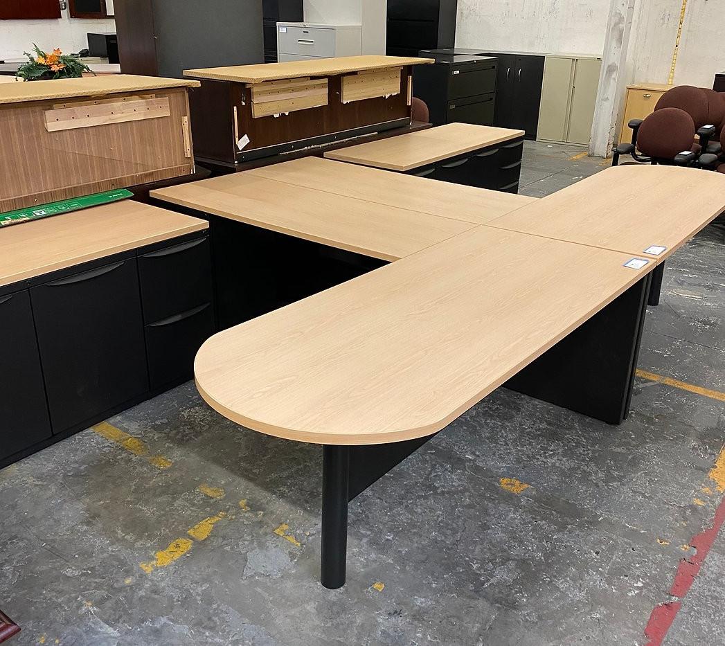 Haworth L Shape Bullet Desk  0304-1-s298
