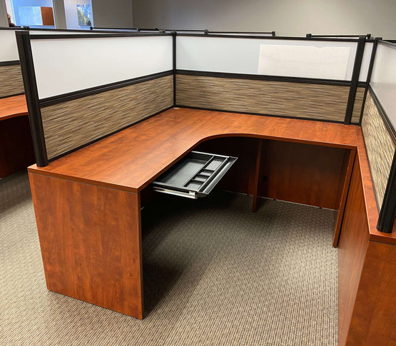 """Used """"L"""" Shaped Desk - Right"""