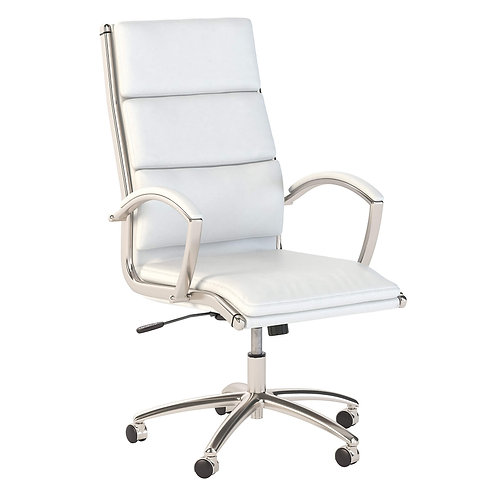 Modelo High Back Leather Executive Office Chair in White