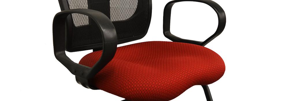 Bright red slide side chair SKU_ C0209-1