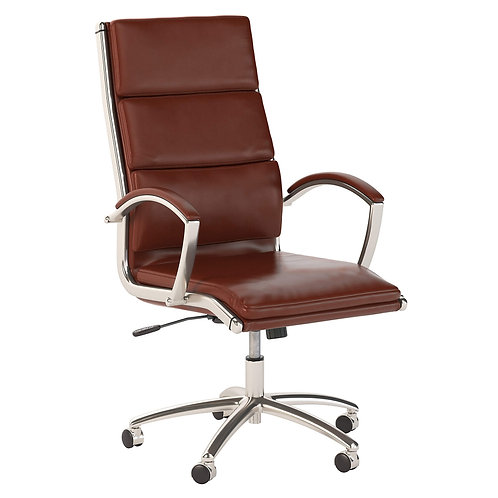 Modelo High Back Leather Executive Office Chair in Harvest Cherry