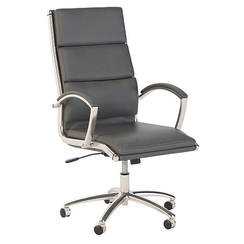 Modelo High Back Leather Executive Office Chair in Dark Gray