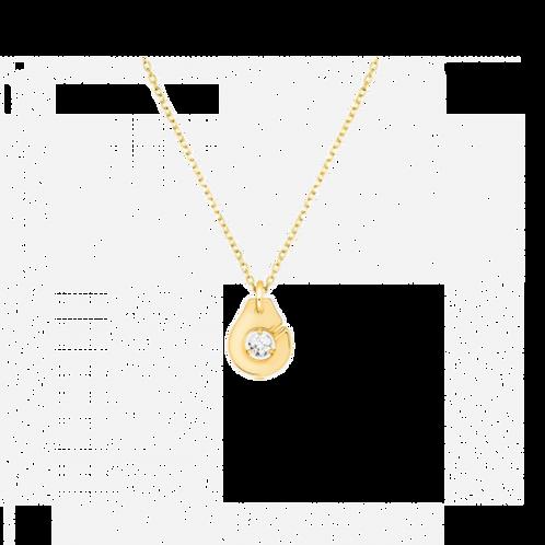 Collier Menottes dinh van R8 en or jaune et diamant