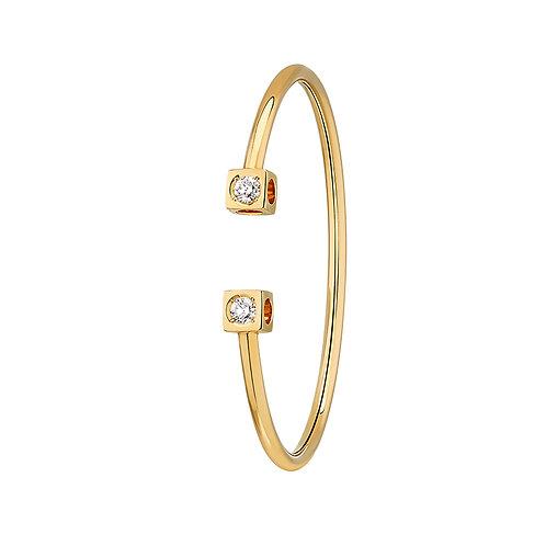 Bracelet Le Cube Diamant grand modèle or jaune et diamants