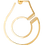 Thumbnail: Mono créole droite Menottes dinh van R45 or jaune et diamants