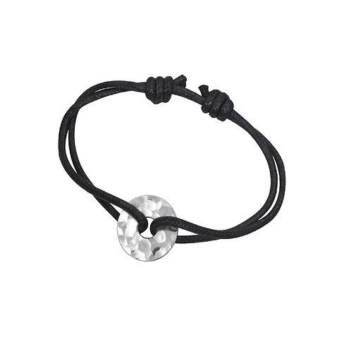 Bracelet sur cordon Pi Chinois 16mm dinh van, Argent