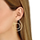 Thumbnail: Mono créole gauche Menottes dinh van R45 or jaune et diamants