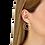 Thumbnail: Créoles Menottes dinh van R27,5 or jaune et diamants