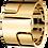 Thumbnail: Bague Seventies grand modèle or jaune