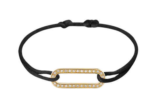 Bracelet Maillon L, or jaune et diamants