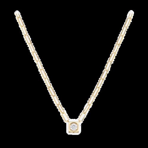 Collier Le Cube Diamant grand modèle or jaune et diamant