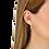 Thumbnail: Pendants d'oreilles Le Cube Diamant or rose et diamants