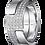 Thumbnail: Bague Seventies moyen modèle or blanc et diamants