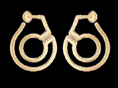 Créoles Menottes dinh van R27,5 or jaune et diamants
