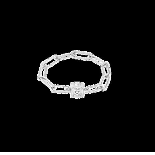 Bague chaîne Le Cube Diamant or blanc et diamant