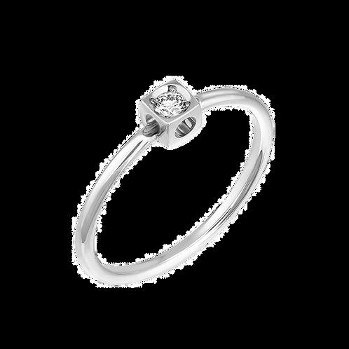 Bague Le Cube Diamant XS dinh van Or blanc, diamant