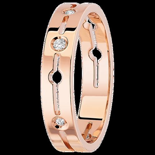 Bague Pulse dinh van petit modèle or rose et diamants