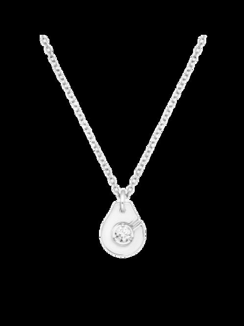 Collier Menottes dinh van R8 or blanc et diamant