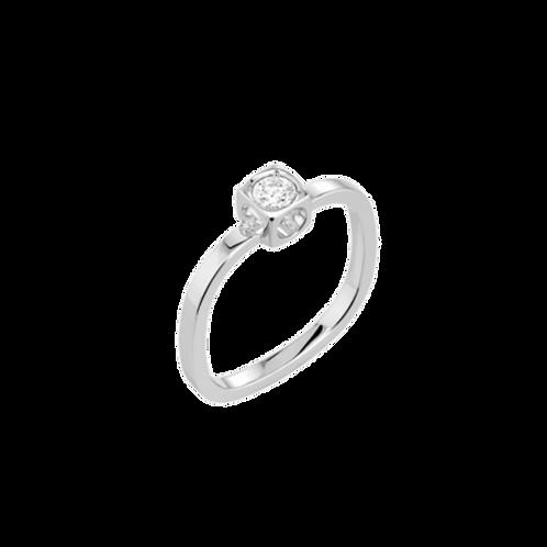 Bague Le Cube Diamant petit modèle or blanc et diamant