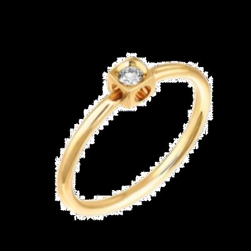 Bague Le Cube Diamant XS dinh van Or jaune, diamant