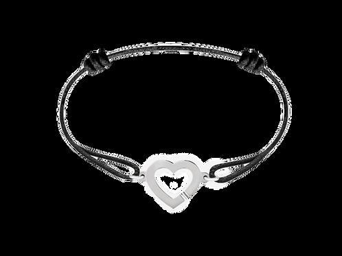 Bracelet Cœur en or blanc