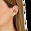 Thumbnail: Mono boucle d'oreille Menottes dinh van R8 or rose et diamants