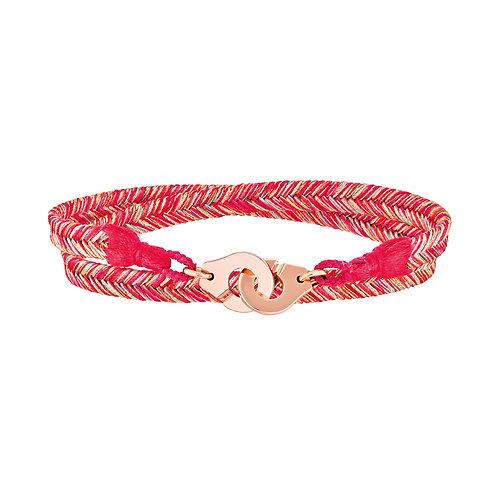 Bracelet tissé Menottes dinh van R10 or rose