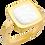 Thumbnail: Bague Impression or jaune et nacre