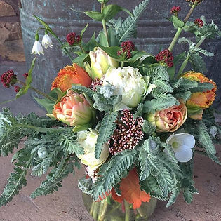 An example of one of our seasonal bouquets- spring.