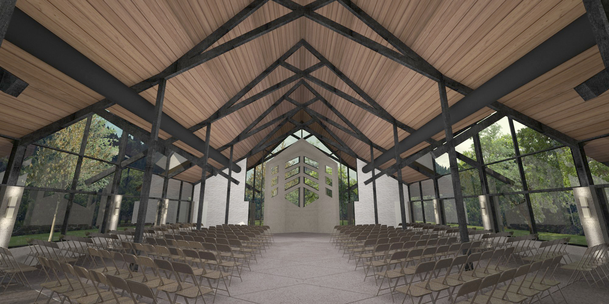 Chapel interior render