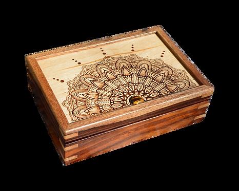 Mandala Zen Rosewood Keepsake Box