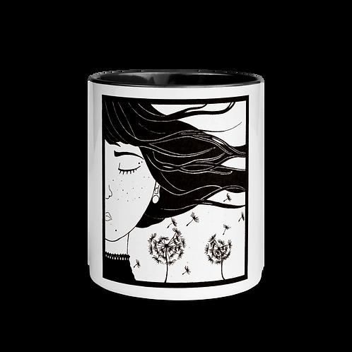 WIND; 4 elements - Mug with black handle & inside