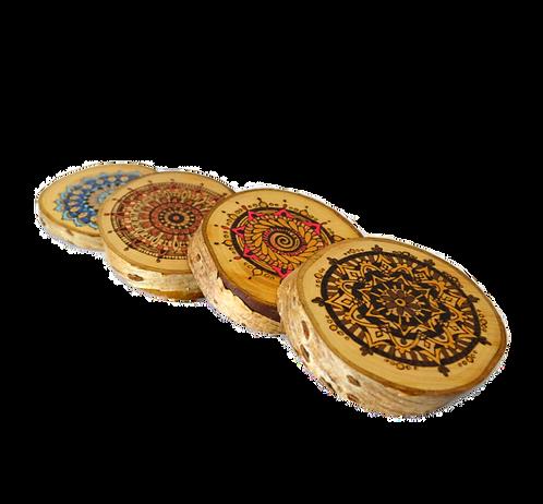 Five spirits of Tibet - Mini Mandala Picture set of 5