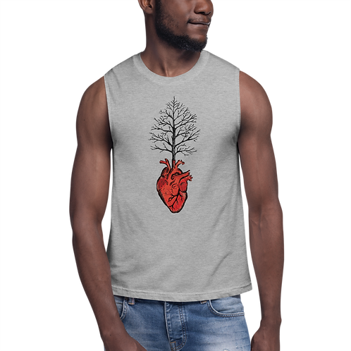 Tree of Heart - Cotton muscle shirt  (multiple colours available)