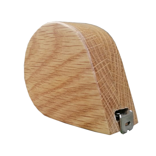 3m - 9ft long Rounded Oak Tape Measure