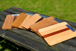 Wooden, angled clip boards