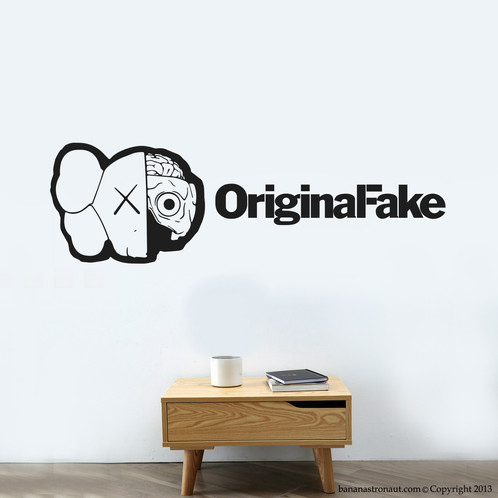 Kaws original fake wall decal modern home deco we are group of graphic designer specialized in vinyl decal stickers who works hard to come up with
