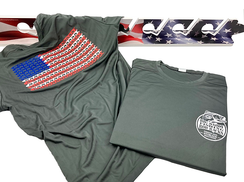 US Flag UPF 50 Short Sleeve