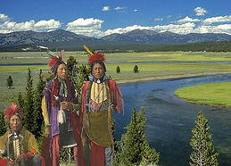 Old Time Shoshones in Yellowstone - Go Native America