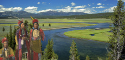 Old Time Shoshone in Yellowstone