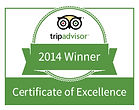Trip Advisor 2014 Winner Certificate of Excellence