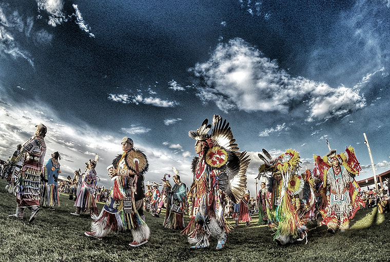 Visit powwow with Go Native America - learn what he dances and songs mean
