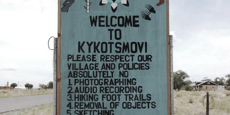 Kykotsmovi Village Sign