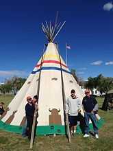 NDN2RS tour members by the tipi