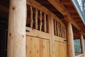 Santa Fe Style Alder Gates