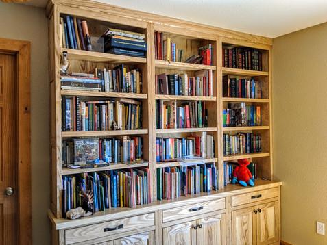 Costum Built Ash Bookshelf